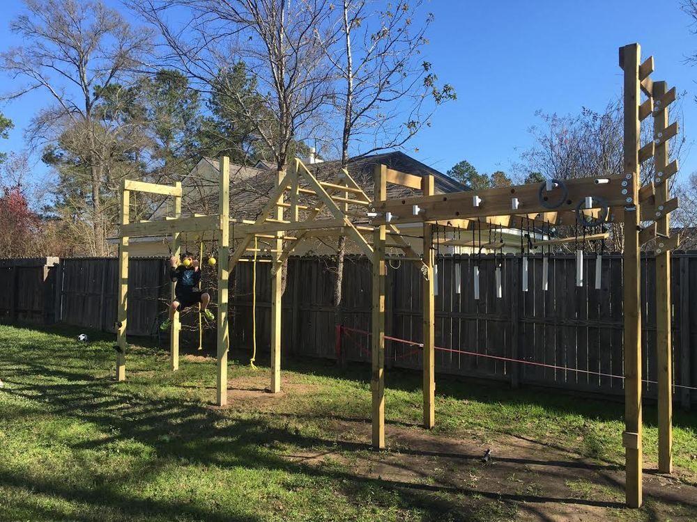 Pictures NinjaWarriorBlueprintscombackyard A Frame Monkey Bars - Build monkey bars ladder