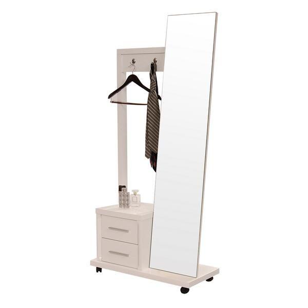 El Dorado Furniture Benz White 31 Valet Mirror Chest Build For K10 White Chests Stand Up Mirror Storage Drawers