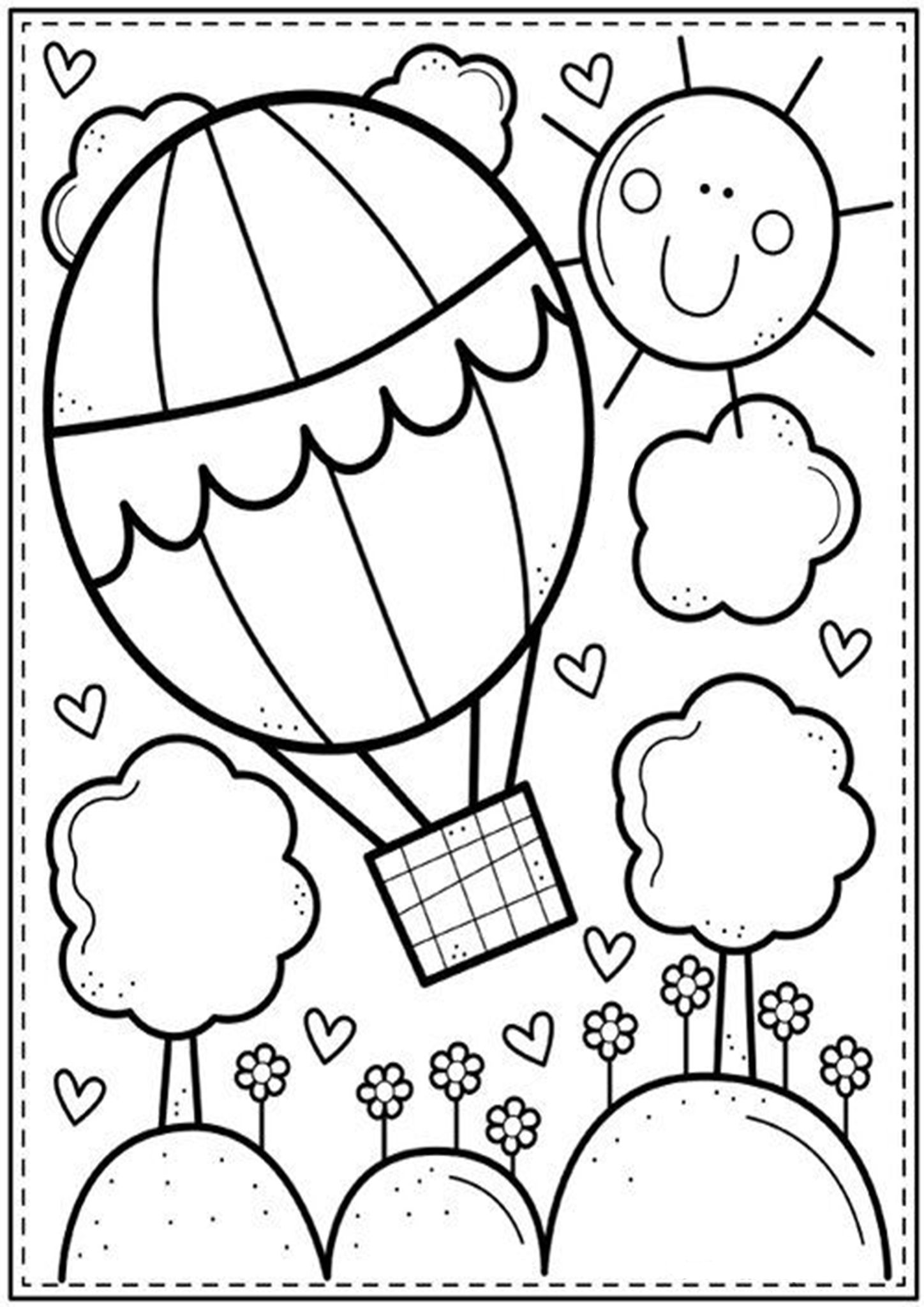 Free Easy To Print Cute Coloring Pages Cute Coloring Pages Coloring Pages Spring Coloring Pages [ 2048 x 1448 Pixel ]