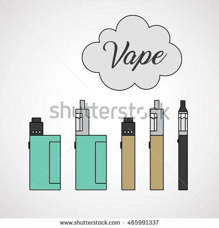 Different types of vaping devices  Box mod, mechanical mod, e