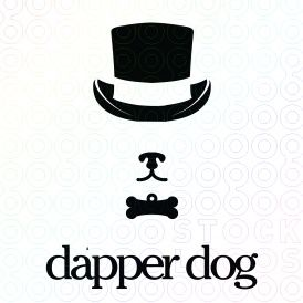 Pets Galore 45 Inspired Logos For Sale Dogs Cats And Other Animal Friends Dapper Dogs Pet Branding Dog Grooming Business