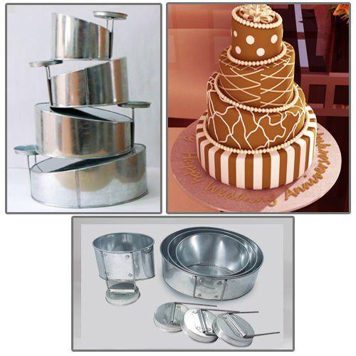Amazing Euro Tins Multi Layer Cake Pans Mini Topsy Turvy Round 4 Tier Wedding Cake  Pan Cake