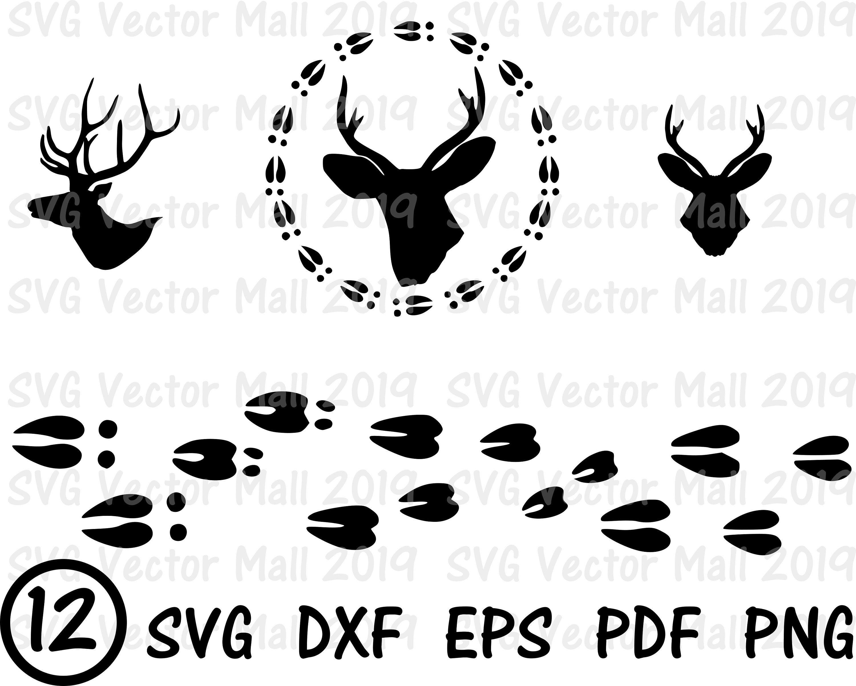 Deer SVG Deer Head Deer Tracks Deer SVG deer clipart
