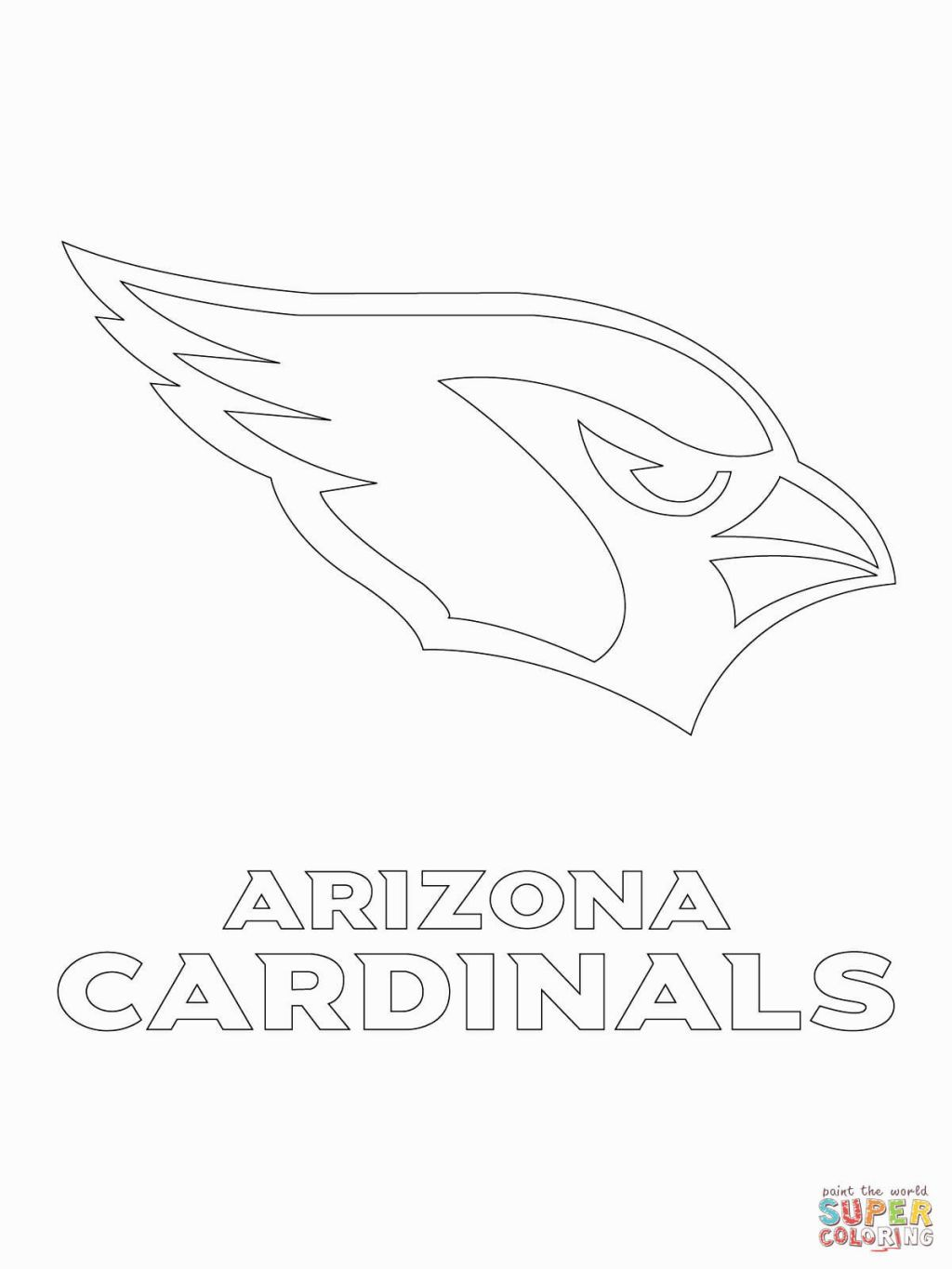Nfl Logos Coloring Pages Football Coloring Pages Arizona