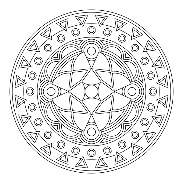 Tons of printable mandala designs free for download. Print