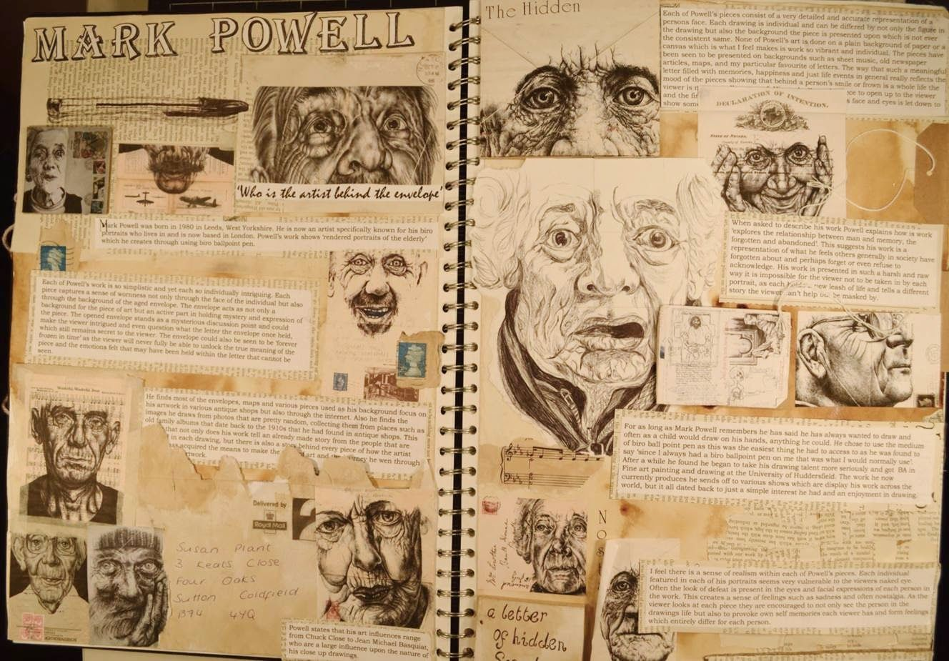 A Level Art Sketchbook Artist Research Google Search Beautiful