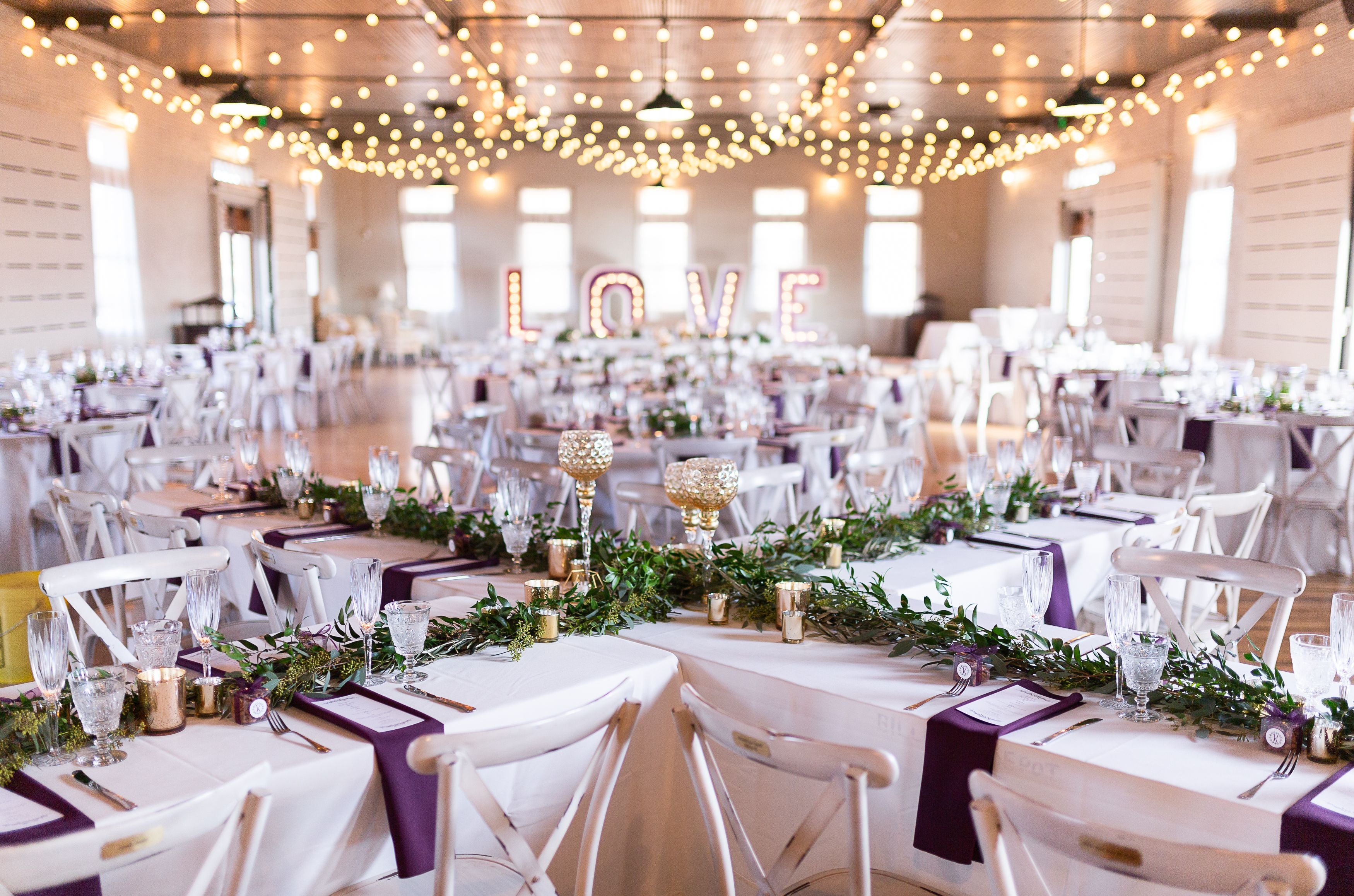 Reception Space For A Winter Purple Ivory And Gold Wedding In Mt Clients Kailey Ian Event Design Decor Be Event Decor Decor Design Wedding Decorations
