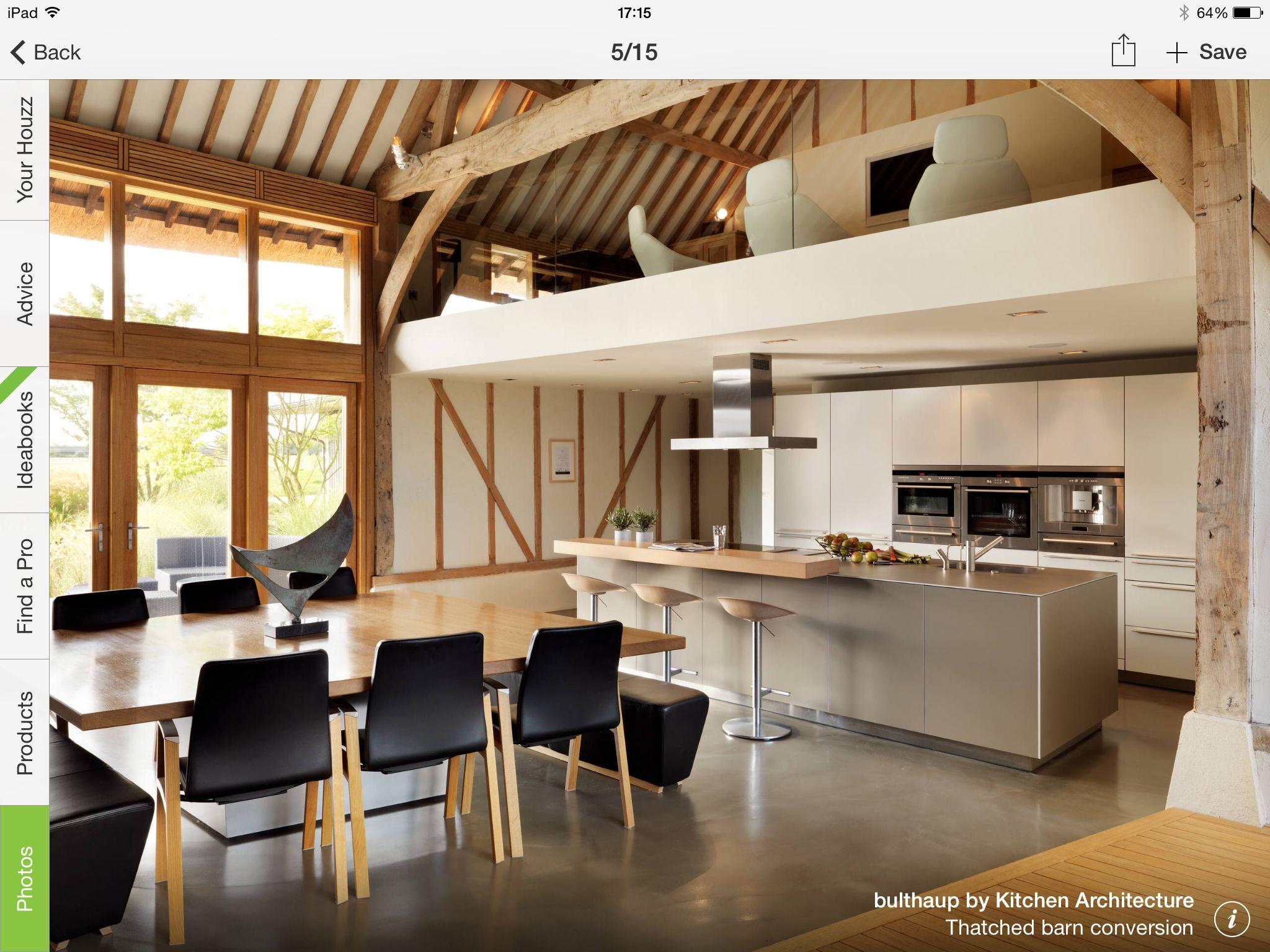Mezzanine above kitchen barn conversion interiors barn conversion kitchen barn conversions barn conversion