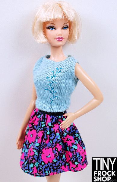 Barbie Jewel Toned Floral Skirt - Tiny Frock Shop