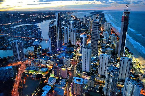 Gold Coast From Q1 At Dusk Queensland Australia C Gold Coast Moving To Australia Chicago Wallpaper