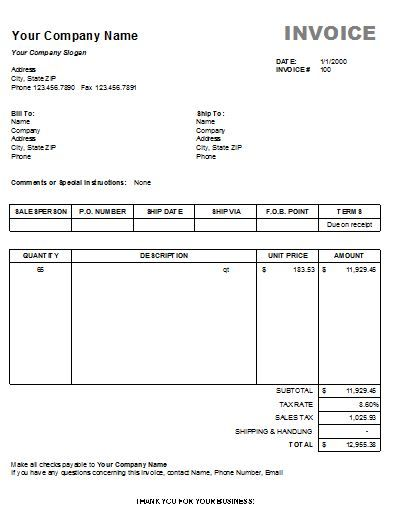 Invoice Template Basic   Invoice Template For Easier Use  Free