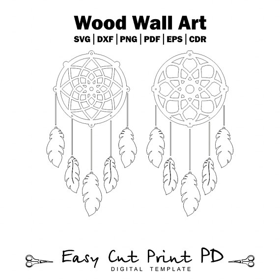 AI  Art file DXF of Laser Cut CNC Vector DXF-CDR