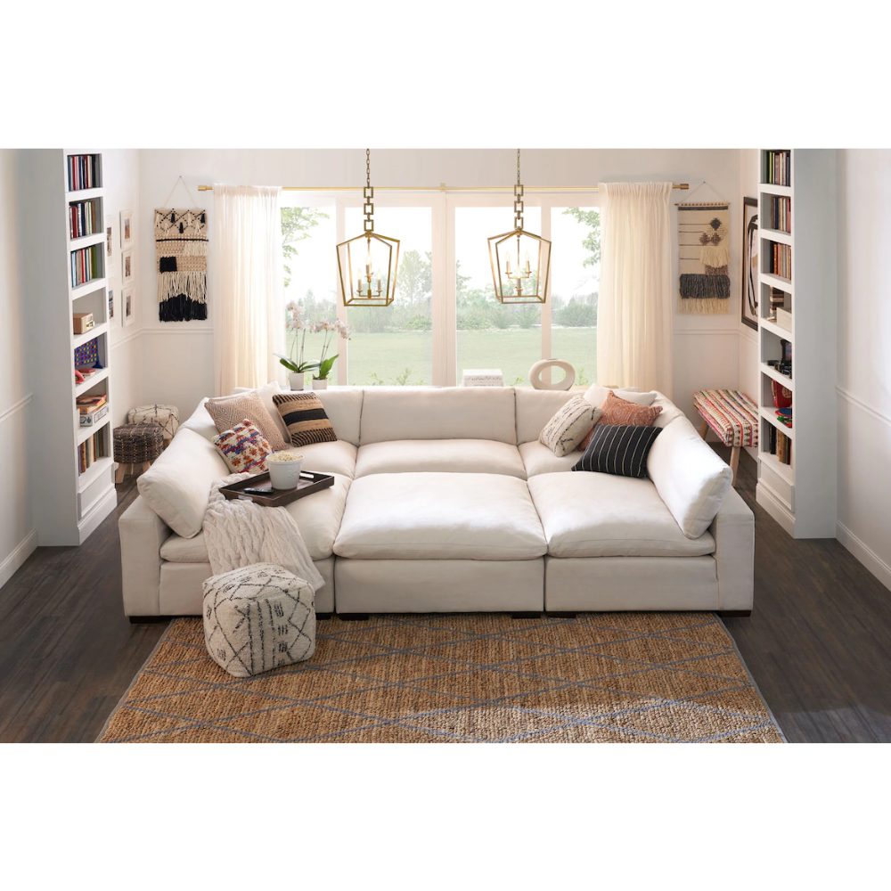 Plush 6 Piece Sectional Value City Furniture And Mattresses In 2020 Value City Furniture Living Room Seating Furniture Design Wooden #value #city #living #room #tables