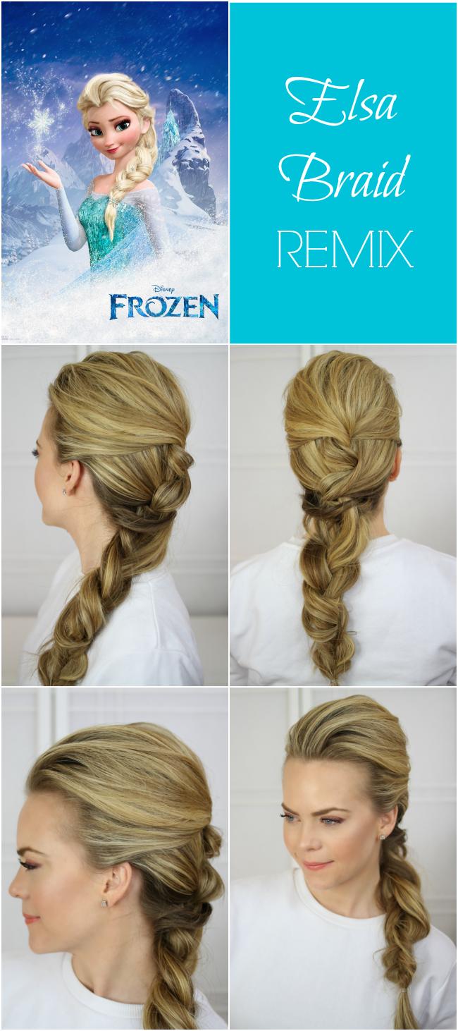 Elsa frisur zopf