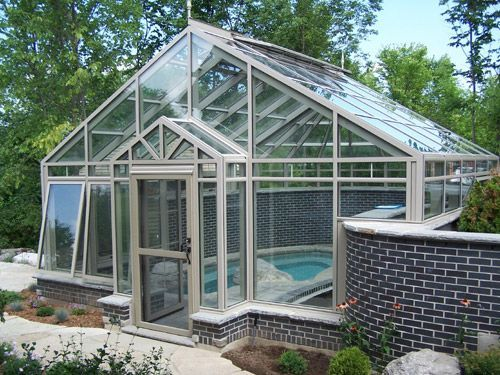 Https Www Gothicarchgreenhouses Com Images Conservatory 10 Jpg Residential Pool Pool Houses Pool Landscaping