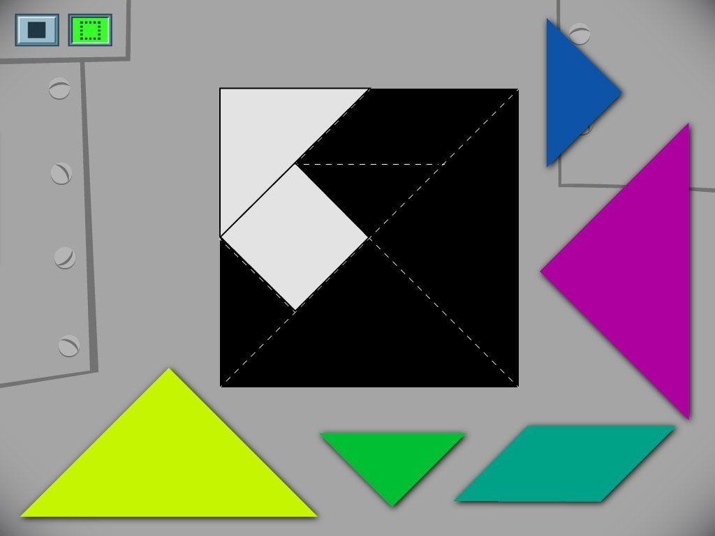 Kids must compose a square from smaller shapes in this tangram gaming fandeluxe Image collections