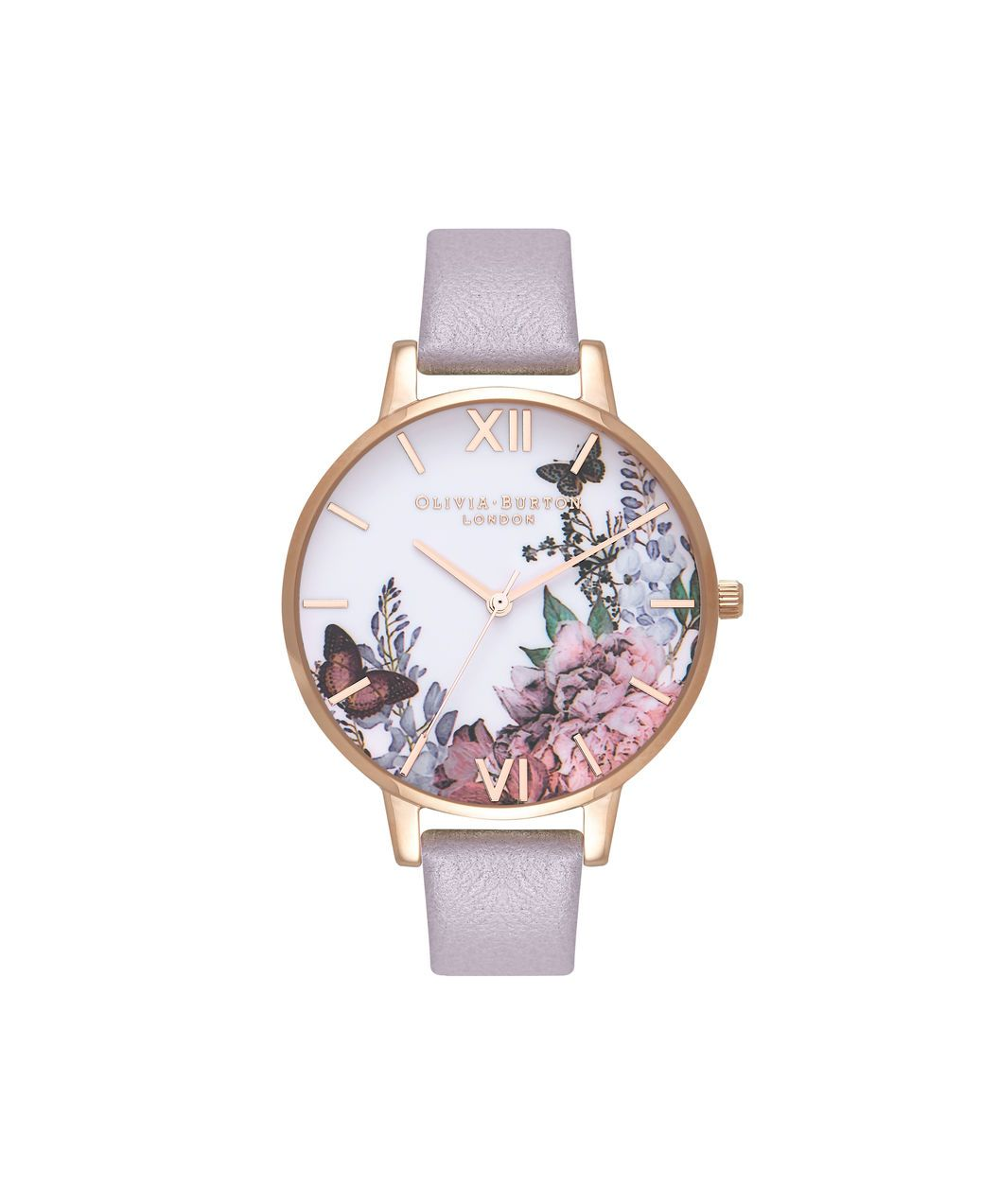 a027e49be3464 Ladies Winter Garden Grey Lilac   Rose Gold Watch