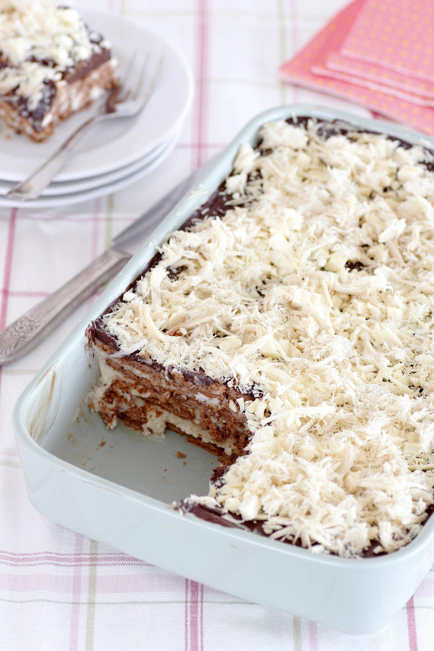 Tahini Chocolate Icebox Cake Recipe Icebox Cake Chocolate