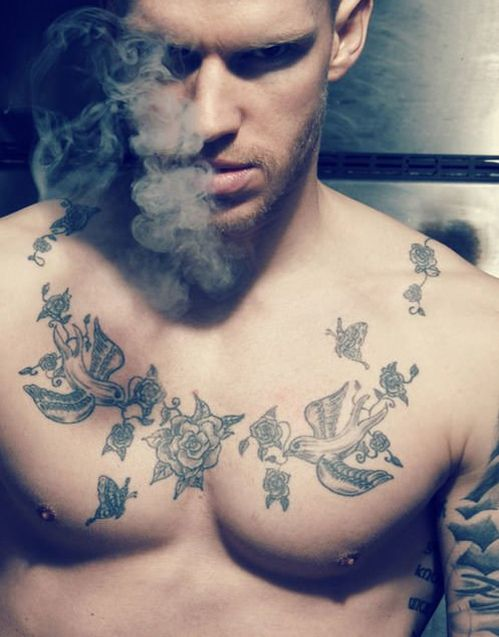 Cool Chest Tattoo Designs For Men