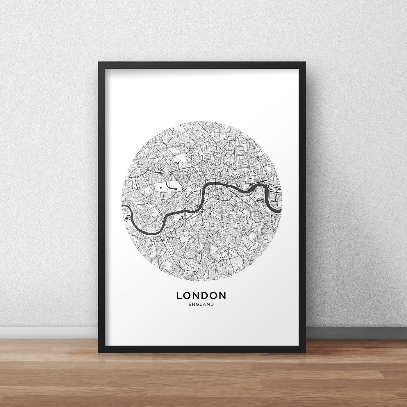 Printable London Street Map.London Map Print London Map Download Circle City Map London