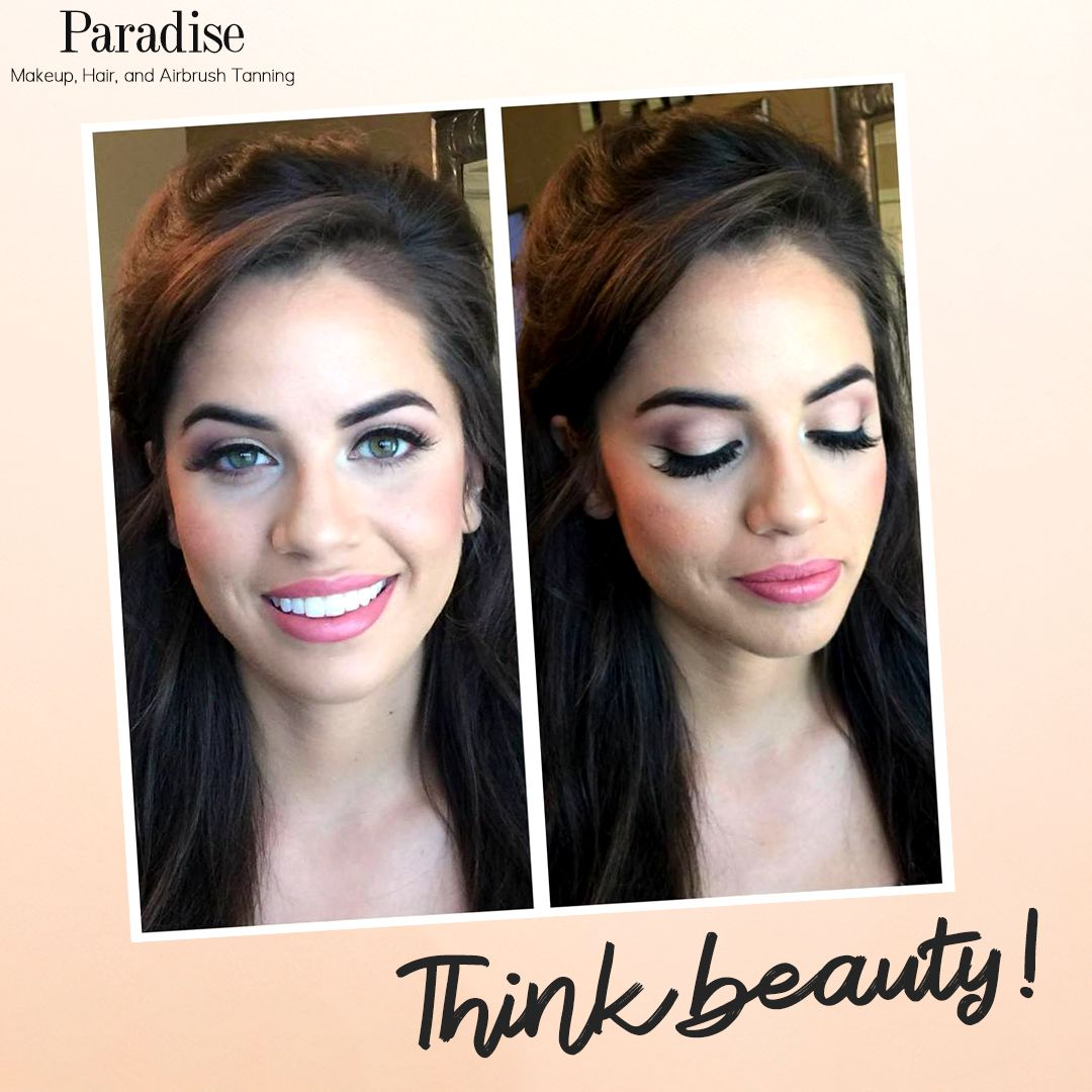Airbrush makeup gives the appearance of naturally even and