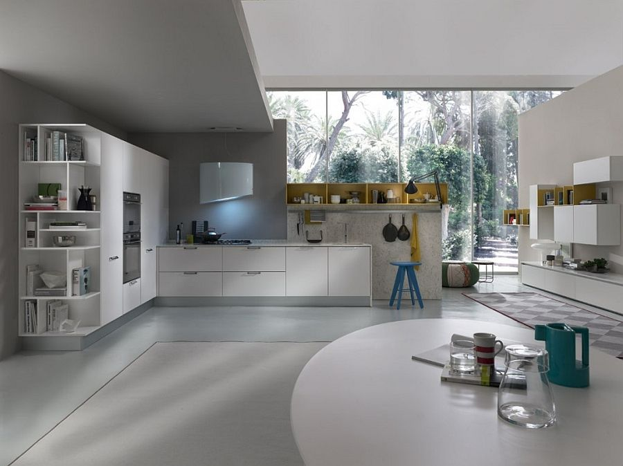 Contemporary Italian Kitchen Space Saving Versatile Compositions Modern Kitchen Layout European Kitchen Design Kitchen Layout