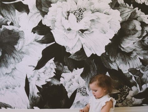 Grey Peony Removable Wallpaper Peony wallpaper