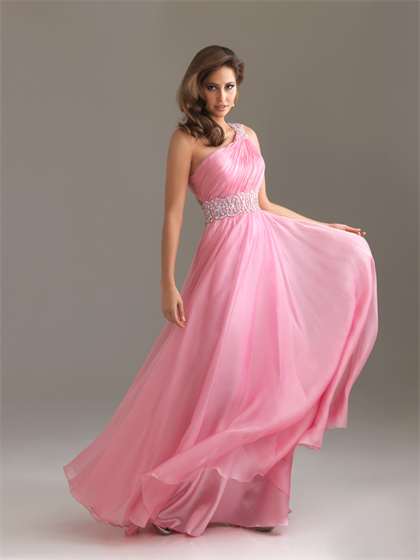 78  images about Prom dresses on Pinterest - One shoulder- Pink ...