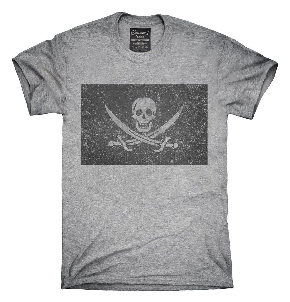 e0038844e77 Retro Vintage Calico Jack Pirate Flag T-Shirt