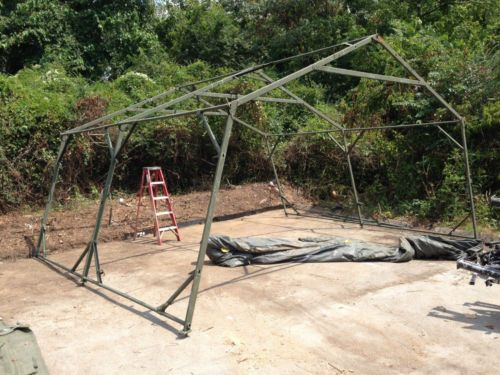 USED-Military-Expandable-Modular-Temper-Tent-FRAME-ONLY-20-X
