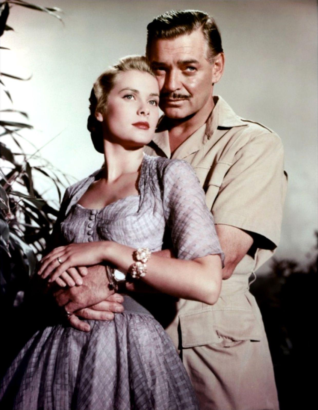 "Grace Kelly and Clark Gable publicity still for ""Mogambo"" | Grace ..."