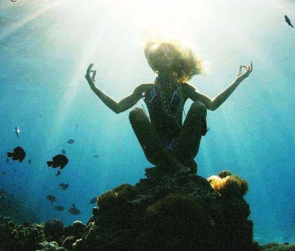 Stunning, underwater yoga.