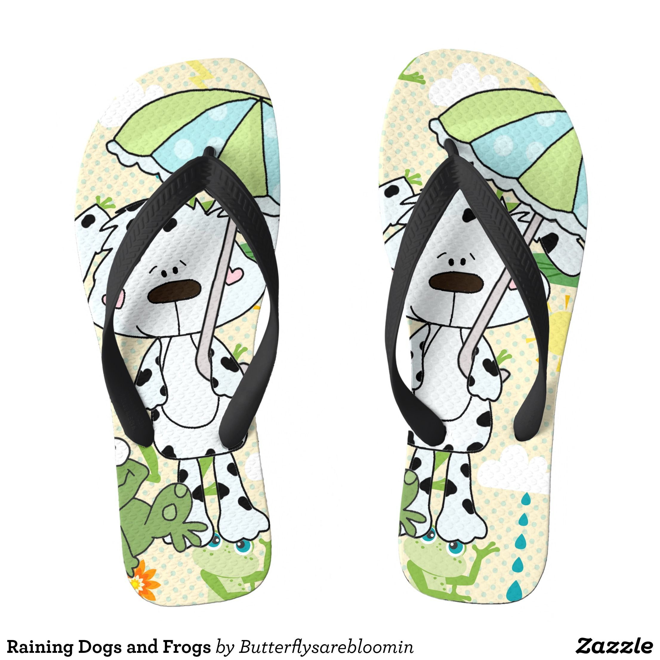 5f4a551a26d60 Raining Dogs and Frogs Flip Flops