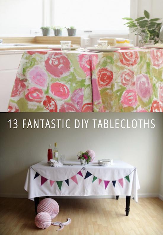 13 Fantastic DIY Tablecloths