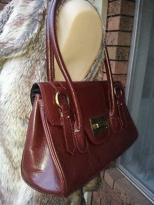 Annapelle Deep Red Maroon Burgundy Las Women Genuine Real Leather Bag Handbag