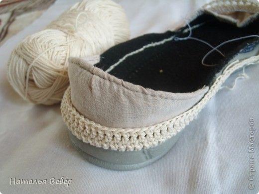 ba83c3606e72 Обувь своими руками!!!или как бабушкины тапочки превратить в модные ...