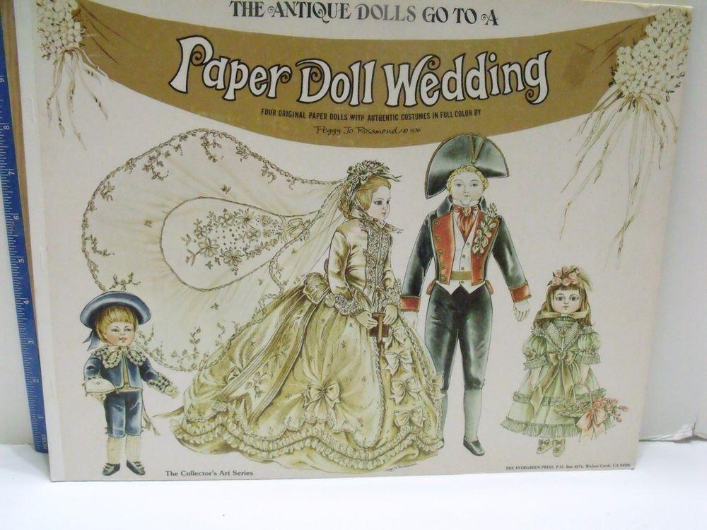 BEAUTIFUL VINTAGE 1976 UNCUT EVERGREEN PRESS PAPER DOLLS - PAPER DOLL WEDDING!!