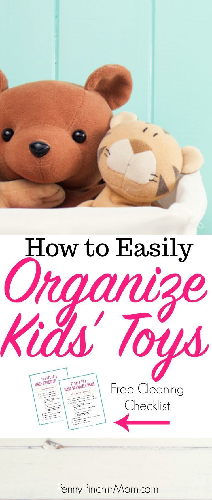 Toys Taking Over  Get My Tricks for Getting Them Organized is part of Organization Bedroom Kids - Kids' toys tend to take over their room  Find out how I keep three kids' rooms organized and clutter free  no matter how many toys they have!