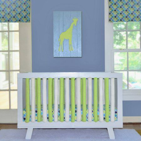 Go Mama Go Designs® 2-Pack Cotton Couture Wonder Bumpers in Lime//White