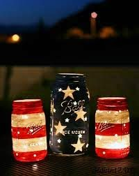 DIY stars & stripes mason jar lights