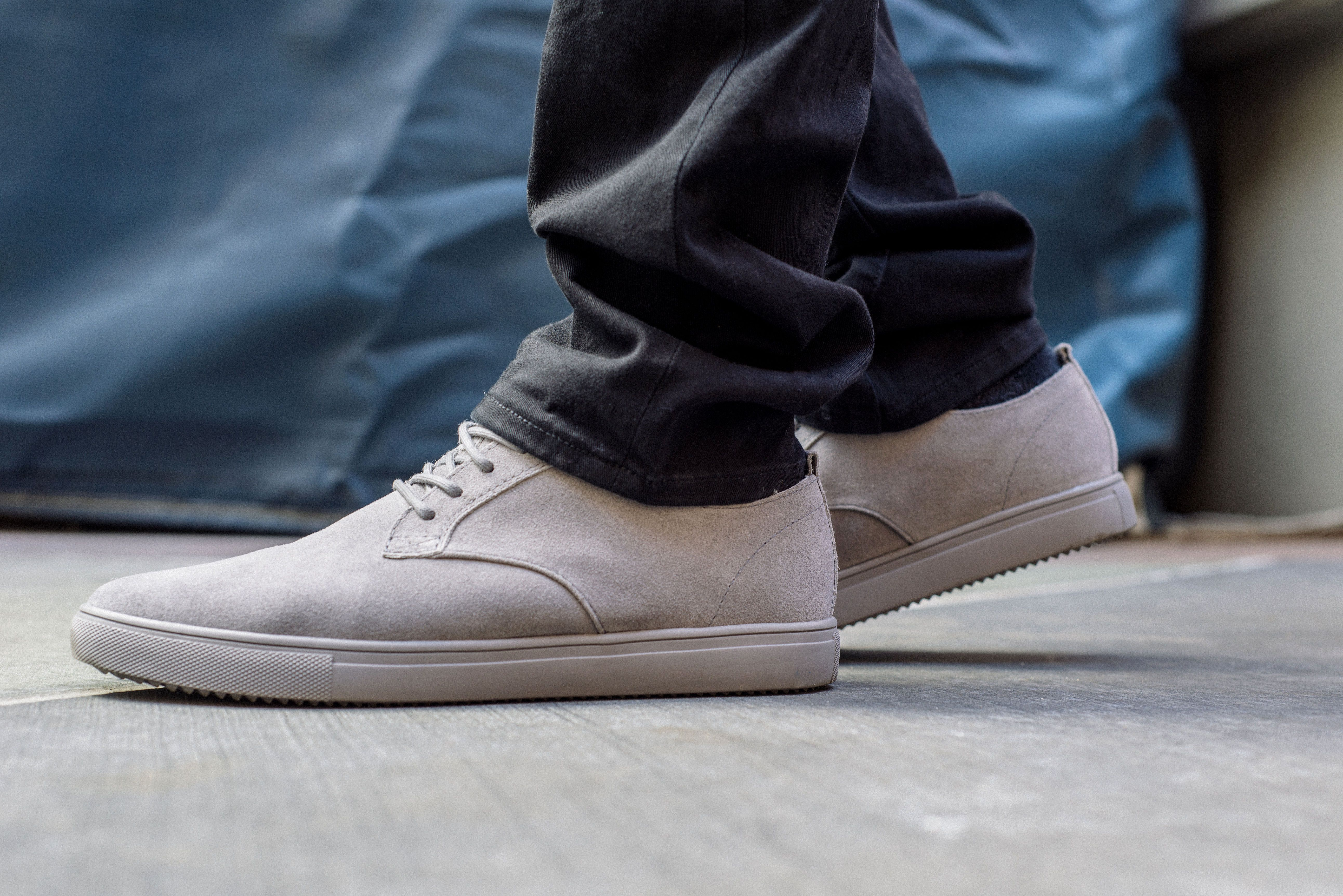 Inspired by dress shoes but capped off with a sneaker sole, the CLAE  Ellington stars in today's first On-Foot Look. The tonal tennies take on a  streetwear ...