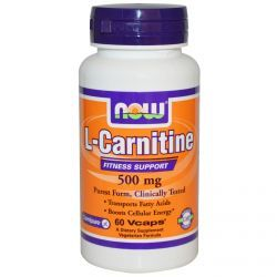 Now Foods, L-Carnitine, 500 Mg, 60 Vcaps, Diet Suplements 蛇