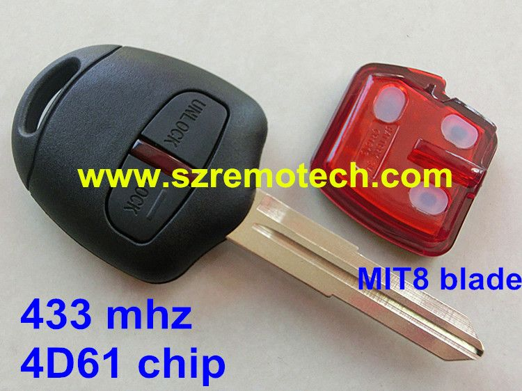 Free Shipping Remote Key 2 Button 433mhz 4d61 Fit For Mitsubishi L200 Shogun Pajero Montero Triton Mit8 Blade Left Mitsubishi Outlander Car Key Fob Mitsubishi