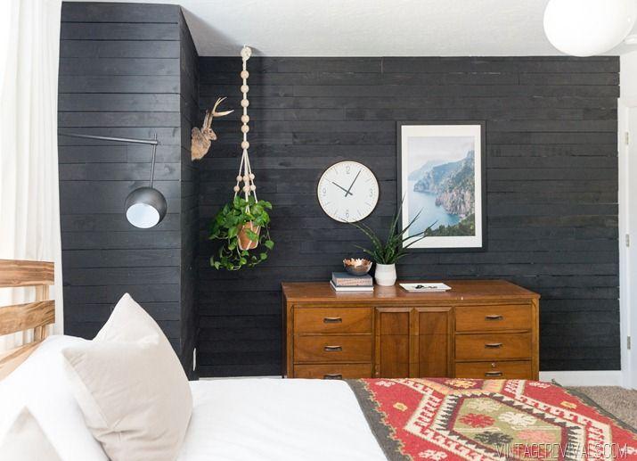 Bland Bedroom Turned Scandi Sanctuary Makeover Reveal Wood Walls Bedroom Ship Lap Walls Home Decor