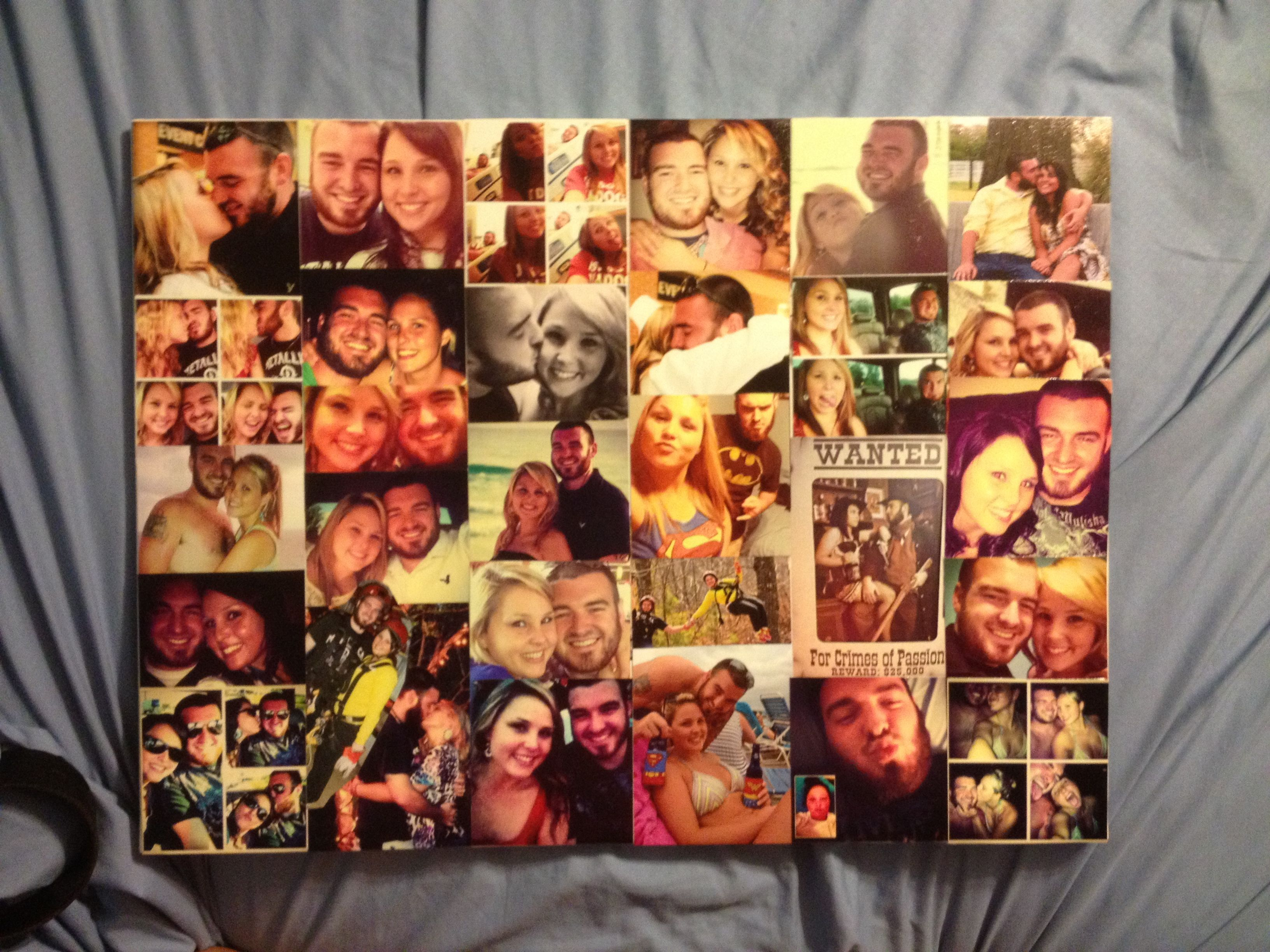 Diy Mod Podge Canvas Collage I Bought The Canvas At Walmart It