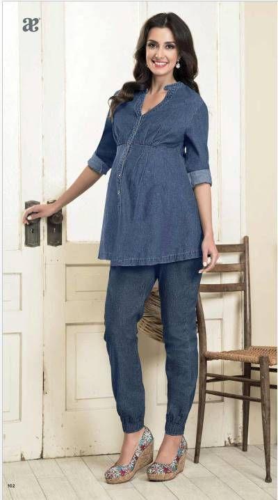 43431e0ec Blusa de maternidad y jogger. Look de embarazada para primavera. Colección  de Ropa Andrea Dama.  maternidad  ropamujer  mujerembarazada