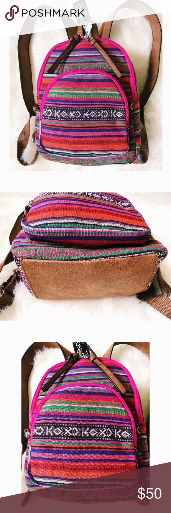 a7d8feb297  BUENO  Mini Backpack    BUENO COLLECTIONS    Aztec Print Mini Backpack in