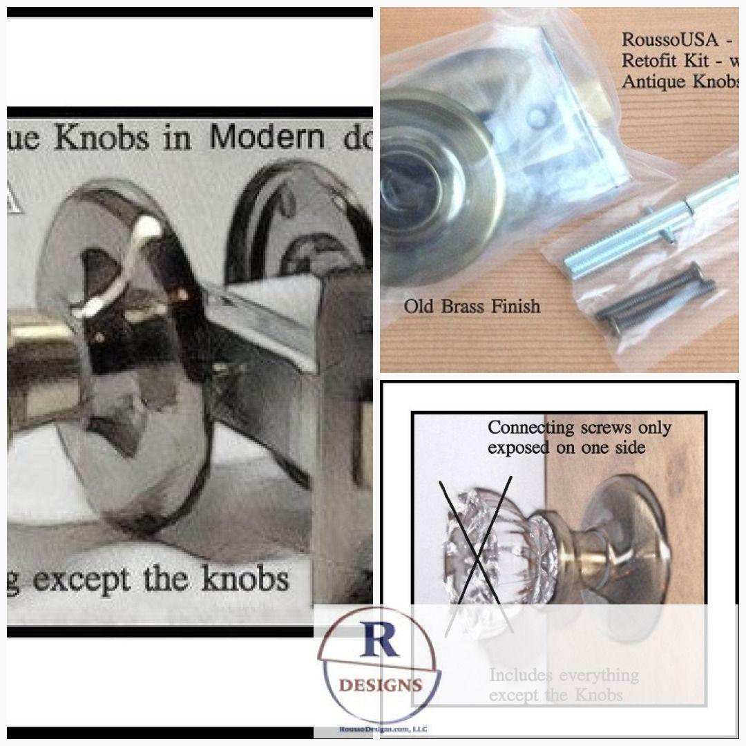 Retrofit Chrome Kit-install Antique Knobs in Any Doors