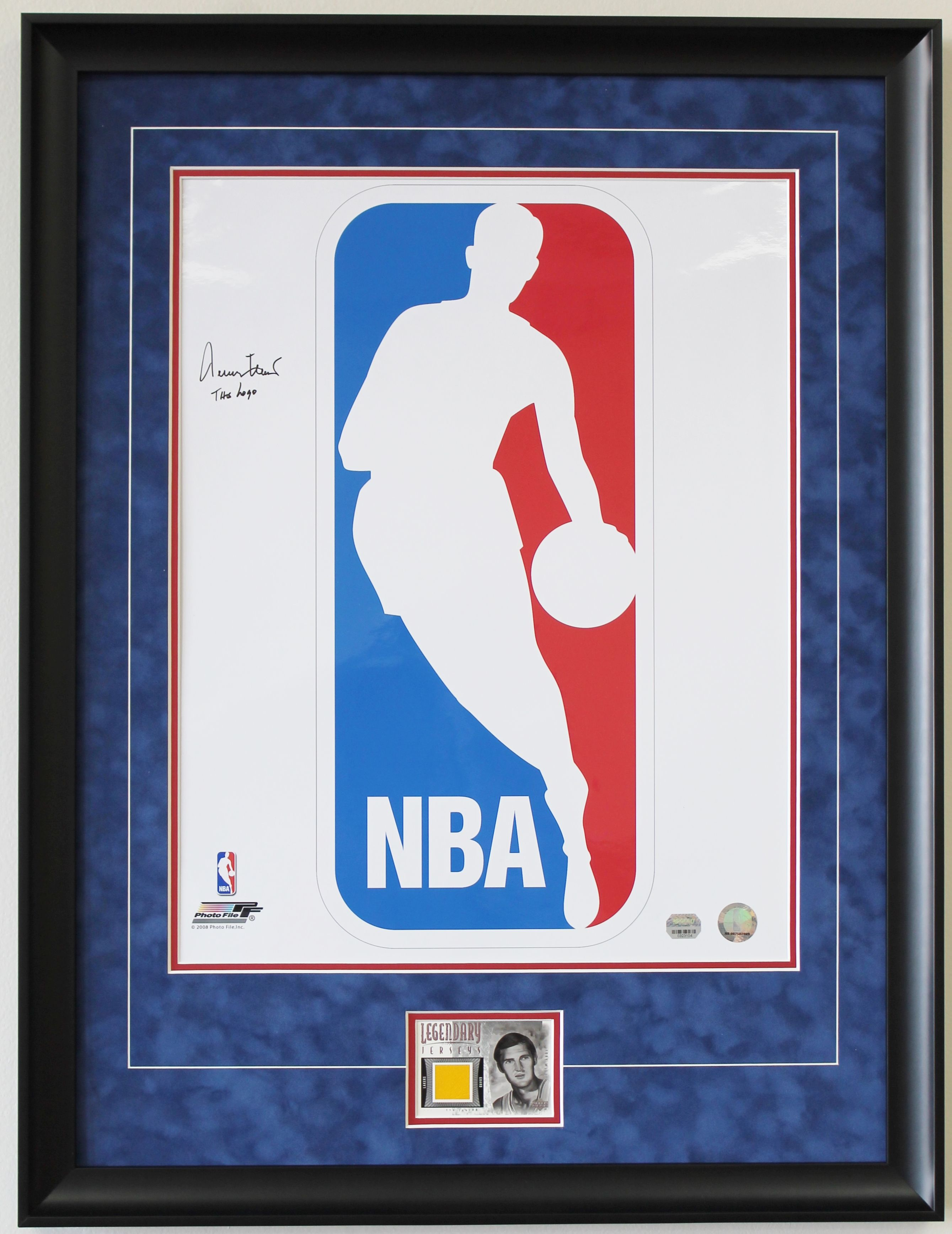 NBA Logo with Jerry West Basketball card Fantasy