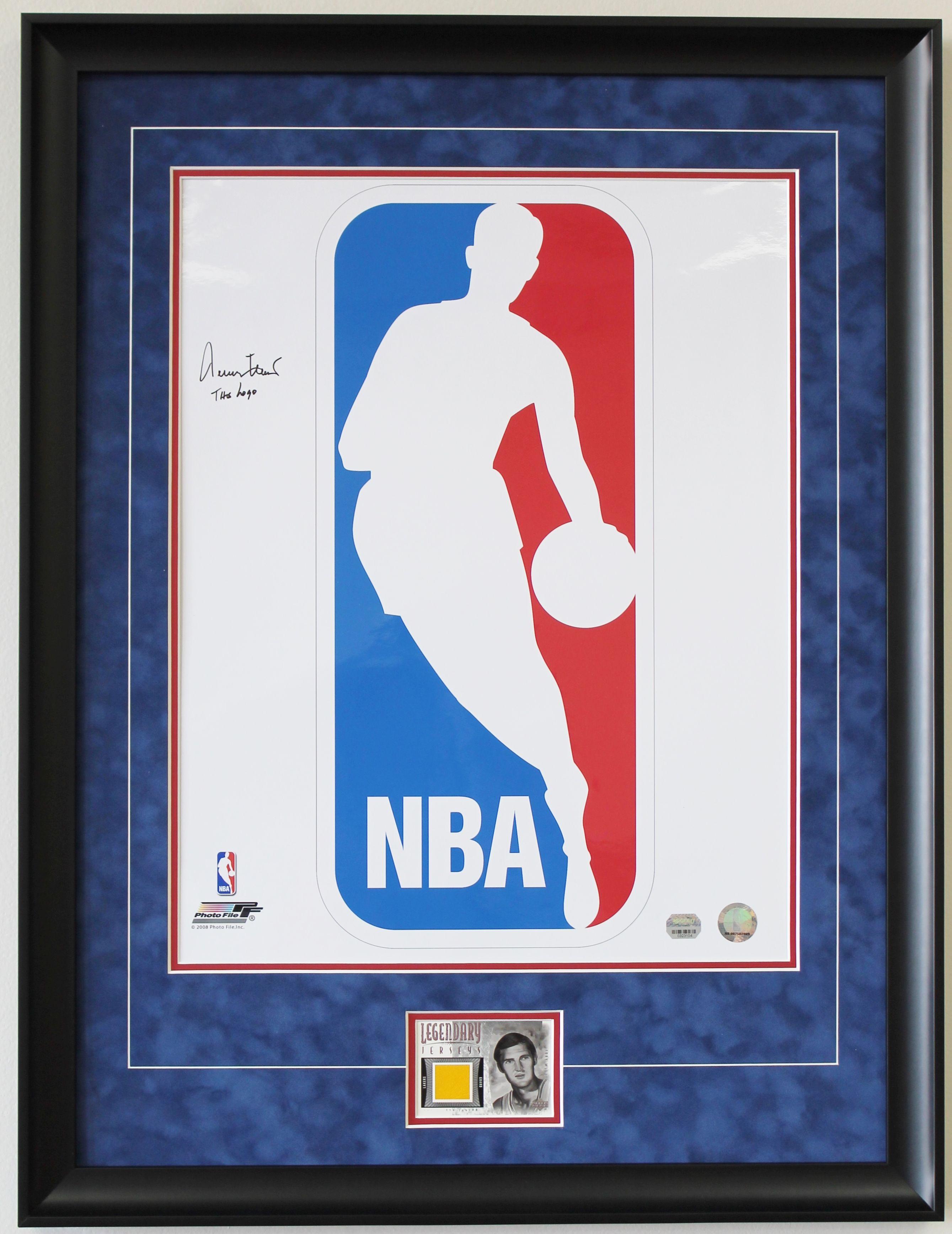 NBA Logo with Jerry West Basketball card Sports Jerseys